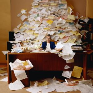 Paperwork Swamped Clip Art