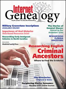 Internet Genealogy Cover June-July 2021